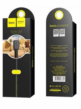 HOCO X20 Черный кабель USB 2A (microUSB) 2м